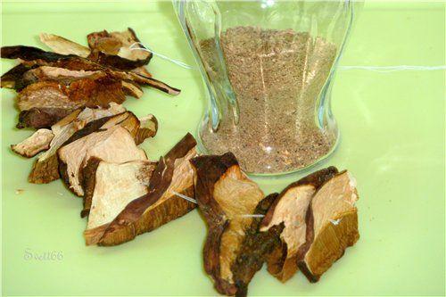 Как приготовить грибной порошок