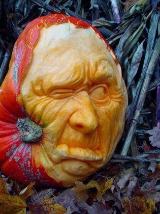 лицо из тыквы