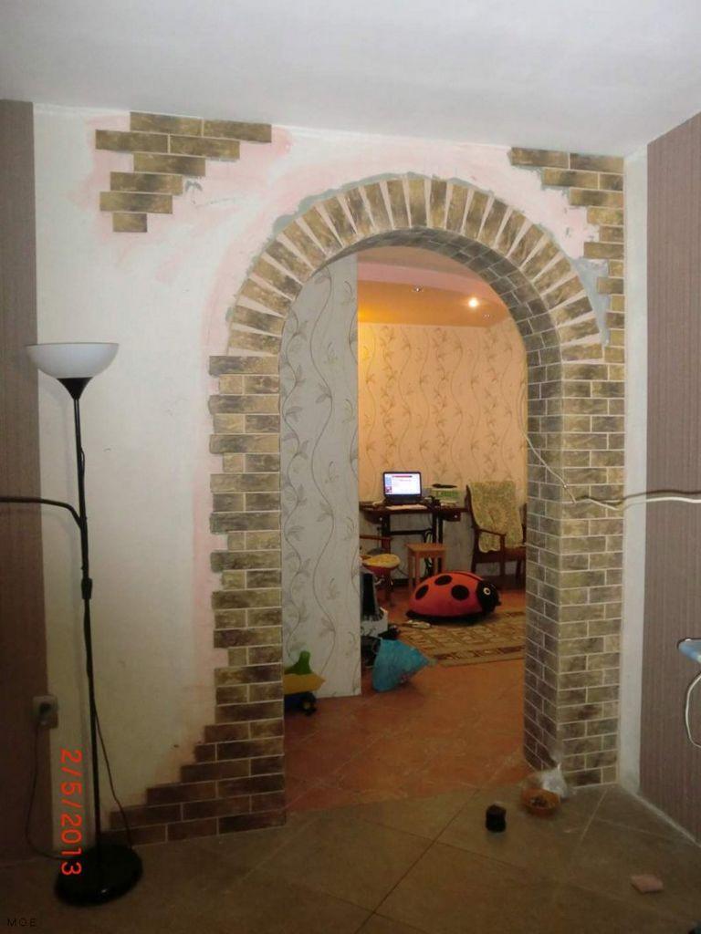 Оформление арки в квартире обоями своими руками 70