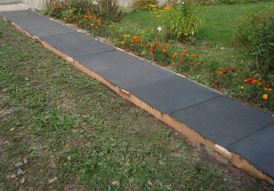 садовые дорожки из рубероида фото может позировать